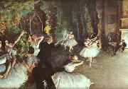 Edgar Degas Rehearsal on the Stage oil painting picture wholesale