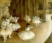 Edgar Degas Ballet Rehearsal on Stage oil painting picture wholesale