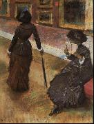 Edgar Degas Mary Cassatt at the Louvre oil painting picture wholesale