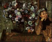 Edgar Degas Madame Valpincon with Chrysanthemums oil painting picture wholesale