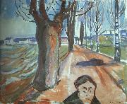 Edvard Munch The Murderer on the Lane oil painting picture wholesale