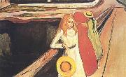 Edvard Munch Girl on a Bridge oil painting picture wholesale