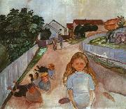 Edvard Munch Street in Asgardstrand oil painting picture wholesale