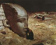 Ehilu Vedder Listening to the Sphinx oil painting artist