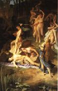 Emile Levy Death of Orpheus oil painting artist