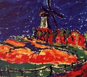 Erich Heckel Windmill, Dangast oil painting artist