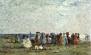 Eugene Boudin Bathers on the Beach at Trouville oil painting picture wholesale