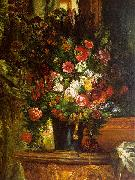 Eugene Delacroix Bouquet of Flowers on a Console_3 oil painting picture wholesale