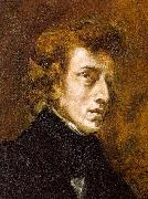 Eugene Delacroix Portrait of Frederic Chopin oil painting artist