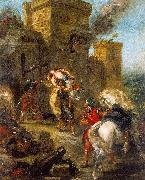 Eugene Delacroix The Abduction of Rebecca_3 oil painting picture wholesale