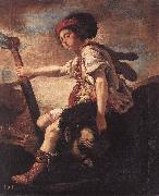 FETI, Domenico David with the Head of Goliath dfg oil painting picture wholesale
