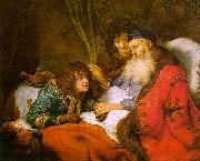 FLINCK, Govert Teunisz. Isaac Blessing Jacob dfg oil painting artist