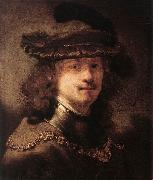 FLINCK, Govert Teunisz. Portrait of Rembrandt df oil painting artist