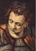 FLORIS, Frans Head of a Woman dfs oil painting artist