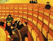 Felix Vallotton The Third Gallery at the Theatre du Chatelet oil painting artist