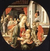 Fra Filippo Lippi Madonna and Child with Stories from the Life of St.Anne oil painting picture wholesale