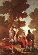 Francisco de Goya The Maja and the Masked Men oil painting artist
