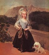 Francisco de Goya Portrait of Maria Teresa de Borbon y Vallabriga oil painting artist