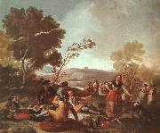 Francisco de Goya Picnic on the Banks of the Manzanares oil painting artist