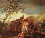 Francisco de Goya Blind Man Playing the Guitar oil painting artist