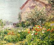 Frank Alfred Bicknell Miss Florence Griswald's Garden oil painting artist