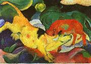 Franz Marc Cows, Yellow, Red, Green oil painting picture wholesale