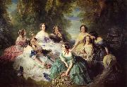 Franz Xaver Winterhalter The Empress Eugenie Surrounded by her Ladies in Waiting oil painting artist