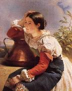 Franz Xaver Winterhalter Young Italian Girl by the Well oil painting picture wholesale