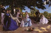 Frederic Bazille Family Reunion oil painting artist