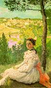 Frederic Bazille View of the Village oil painting picture wholesale