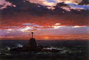 Frederic Edwin Church Beacon, off Mount Desert Island oil painting picture wholesale