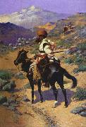 Frederick Remington Indian Trapper oil painting picture wholesale