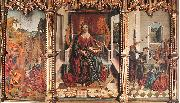 GALLEGO, Fernando Triptych of St Catherine  dfg oil painting picture wholesale