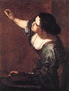 GENTILESCHI, Artemisia Self-Portrait as the Allegory of Painting fdg oil painting picture wholesale