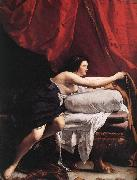 GENTILESCHI, Orazio Joseph and Potiphar's Wife (detail) dsg oil painting artist