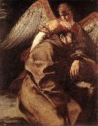GENTILESCHI, Orazio St Francis Supported by an Angel sdgh oil painting artist