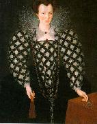 GHEERAERTS, Marcus the Younger Portrait of Mary Rogers: Lady Harrington dfg oil painting picture wholesale