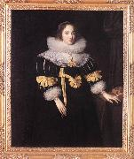 GHEERAERTS, Marcus the Younger Portrait of Lady Anne Ruhout df oil painting artist