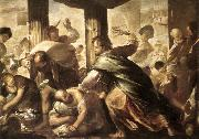 GIORDANO, Luca Christ Cleansing the Temple dh oil painting artist