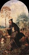 GOSSAERT, Jan (Mabuse) St Anthony with a Donor dfg oil painting artist