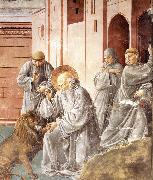 GOZZOLI, Benozzo St Jerome Pulling a Thorn from a Lion's Paw sd oil painting picture wholesale