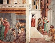 GOZZOLI, Benozzo Scenes from the Life of St Francis (Scene 1, north wall) g oil painting picture wholesale