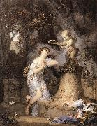 GREUZE, Jean-Baptiste Votive Offering to Cupid ghf oil painting artist