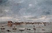GUARDI, Francesco San Cristoforo, San Michele and Murano, Seen from the Fondamenta Nuove sh oil painting artist