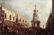 GUARDI, Francesco Carnival Thursday on the Piazzetta dgs oil painting picture wholesale