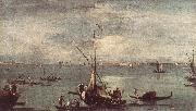 GUARDI, Francesco The Lagoon with Boats, Gondolas, and Rafts kug oil painting artist