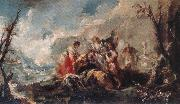 GUARDI, Gianantonio The Healing of Tobias s Father oil painting artist