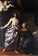 GUERCINO The Resurrected Christ Appears to the Virgin hf oil painting artist