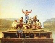 George Caleb Bingham The Jolly Flatboatmen oil painting artist
