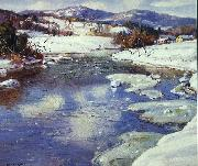 George Gardner Symons Valley Stream in Winter oil painting picture wholesale